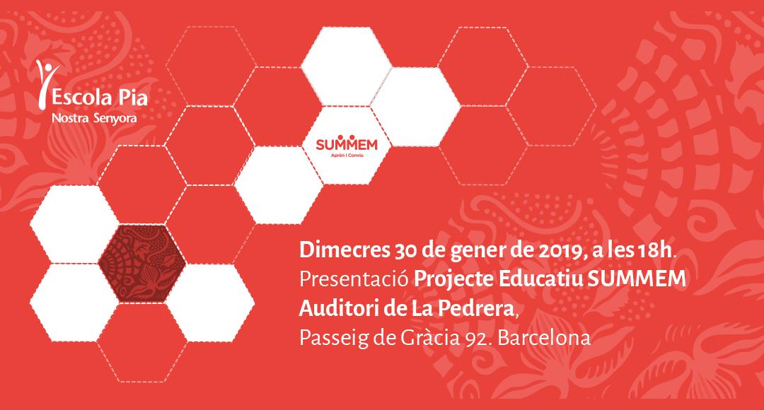 Presentació Projecte educatiu SUMMEM a La Pedrera