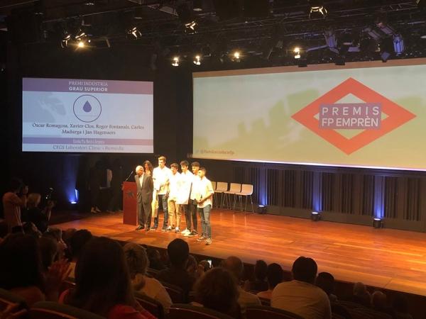 Premis FPEmprèn 2019 INDUSTRIA i SALUT per als CFGS Laboraotir i Imatge per al diagnòstic