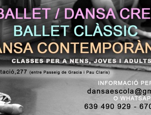 Classes de ballet i dansa