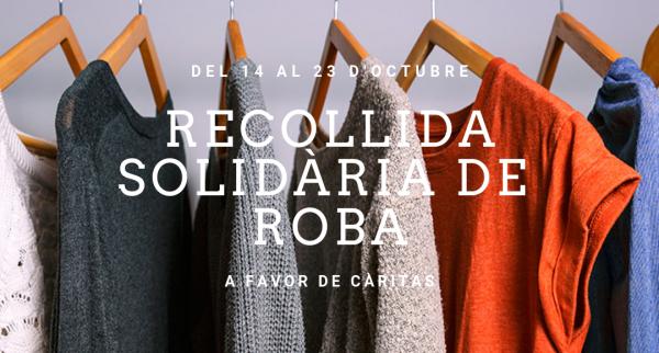 recollida solidària de roba a favor de Càritas