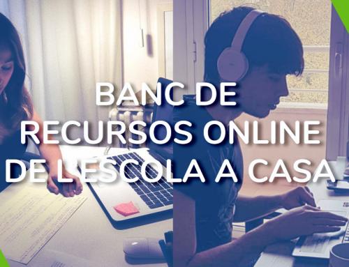 L'ESCOLA A CASA, Banc de recursos online