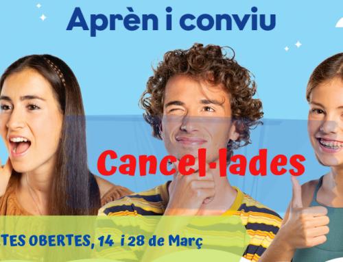 Cancel·lació Portes Obertes
