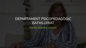 Departament Psicopedagogia Batxillerat