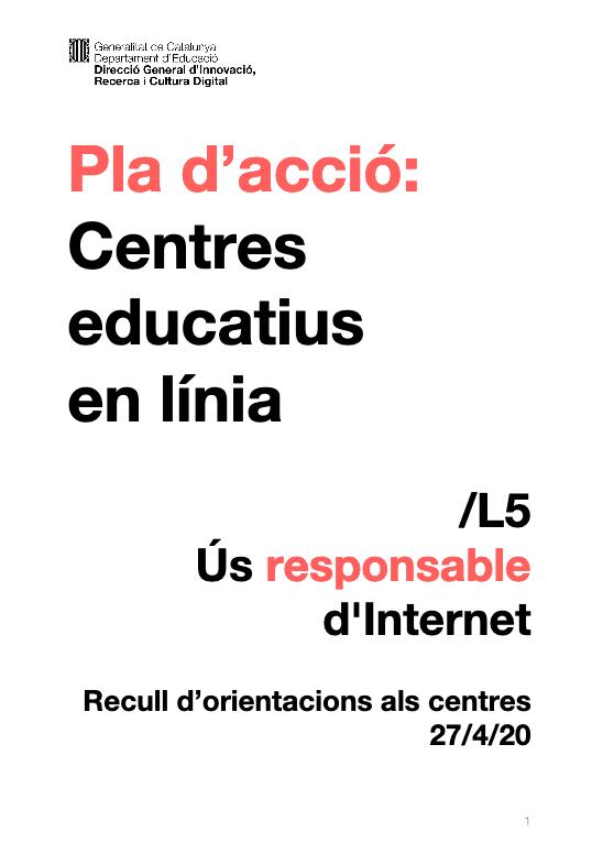 Ús responsable d'Internet Centre Educatius