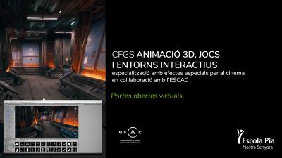 CFGS Animació 3D, jocs i entorns interactius