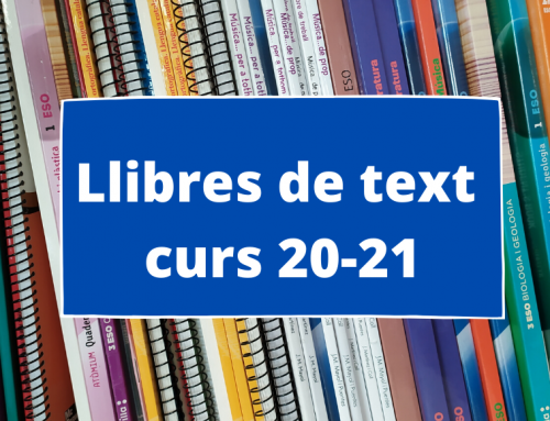 Llibres curs 2020-21