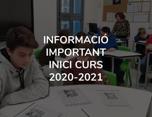 INFORMACIÓ INICI CURS 20-21