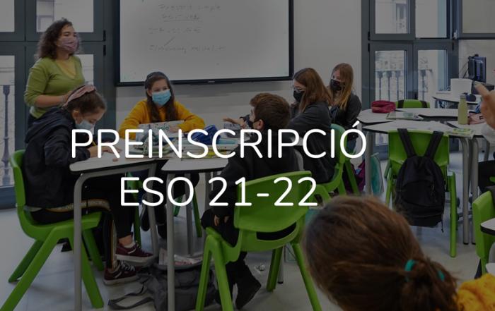 Preinscripció ESO curs 21-22