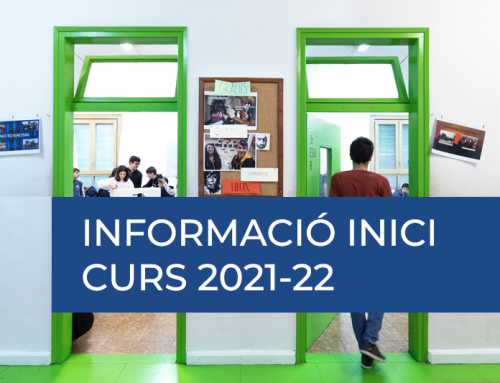 Informació Inici curs 2021-22